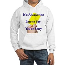 Say Sorry Yellow Card Hoodie