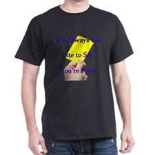 Say Sorry Yellow Card T-Shirt