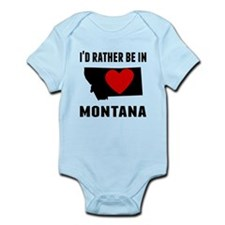 Id Rather Be In Montana Body Suit