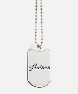 Moises Classic Style Name Dog Tags