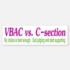 VBAC Hard Enough Bumper Bumper Bumper Sticker