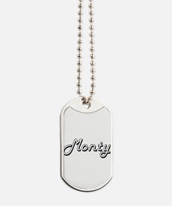 Monty Classic Style Name Dog Tags