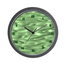 Green Waves Wall Clock