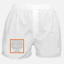 bernie sander quote Boxer Shorts