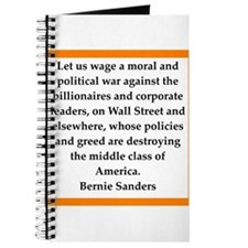 bernie sander quote Journal