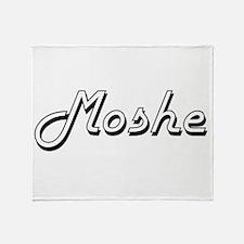 Moshe Classic Style Name Throw Blanket