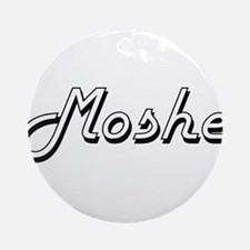 Moshe Classic Style Name Ornament (Round)