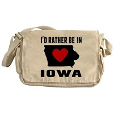 Id Rather Be In Iowa Messenger Bag