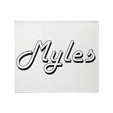 Myles Classic Style Name Throw Blanket