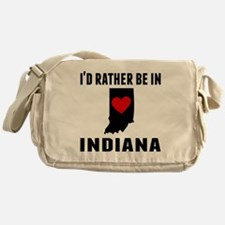 Id Rather Be In Indiana Messenger Bag