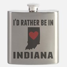 Id Rather Be In Indiana Flask