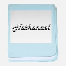 Nathanael Classic Style Name baby blanket