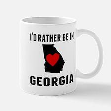 Id Rather Be In Georgia Mugs