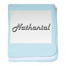 Nathanial Classic Style Name baby blanket