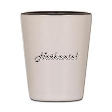 Nathaniel Classic Style Name Shot Glass