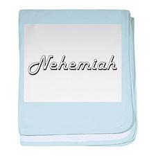 Nehemiah Classic Style Name baby blanket