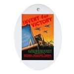 Invent for Victory Oval Ornament