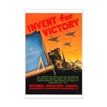 Invent for Victory Mini Poster Print