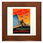 Invent for Victory Framed Tile