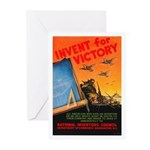 Invent for Victory Greeting Cards (Pk of 10)