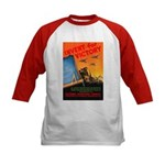 Invent for Victory (Front) Kids Baseball Jersey