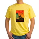 Invent for Victory (Front) Yellow T-Shirt