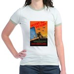 Invent for Victory (Front) Jr. Ringer T-Shirt