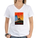 Invent for Victory (Front) Women's V-Neck T-Shirt