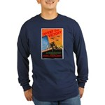 Invent for Victory (Front) Long Sleeve Dark T-Shir