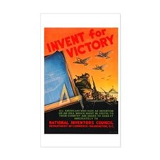 Invent for Victory Rectangle Decal