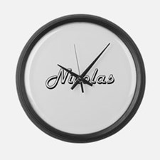 Nicolas Classic Style Name Large Wall Clock