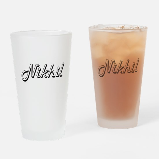 Nikhil Classic Style Name Drinking Glass