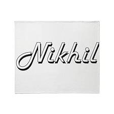 Nikhil Classic Style Name Throw Blanket