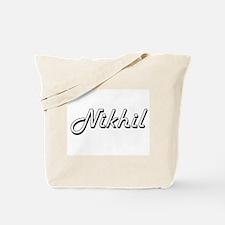 Nikhil Classic Style Name Tote Bag