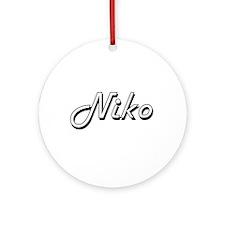Niko Classic Style Name Ornament (Round)