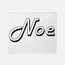 Noe Classic Style Name Throw Blanket