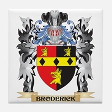 Broderick Coat of Arms - Family Crest Tile Coaster
