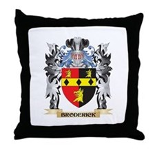 Broderick Coat of Arms - Family Crest Throw Pillow
