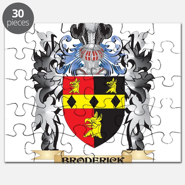 Broderick Coat of Arms - Family Crest Puzzle