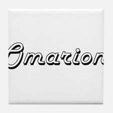 Omarion Classic Style Name Tile Coaster