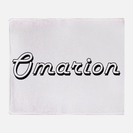 Omarion Classic Style Name Throw Blanket
