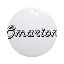 Omarion Classic Style Name Ornament (Round)