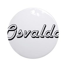 Osvaldo Classic Style Name Ornament (Round)