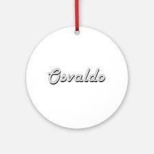 Osvaldo Classic Style Name Ornament (Round)