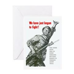 Patriot Just Begun to Fight Greeting Card