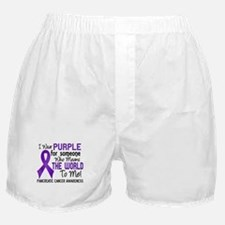 Pancreatic Cancer MeansWorldToMe2 Boxer Shorts