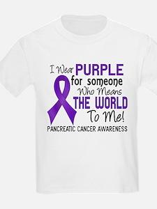 Pancreatic Cancer MeansWorldToM T-Shirt