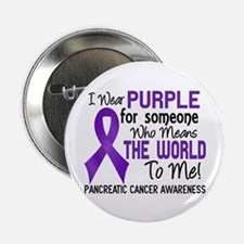 """Pancreatic Cancer MeansWorldToMe2 2.25"""" Button"""