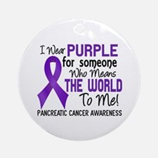 Pancreatic Cancer MeansWorldToMe2 Ornament (Round)