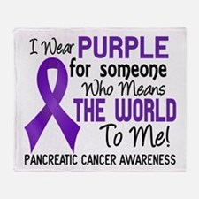 Pancreatic Cancer MeansWorldToMe2 Throw Blanket